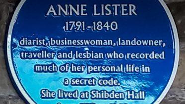 Anne Lister Blue Plaque